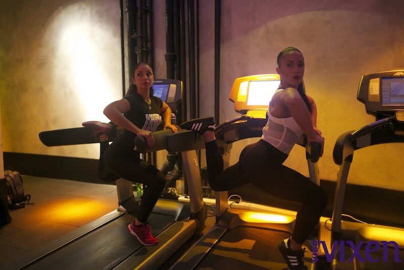 Photo: Mya and Trainer Nicole Winhoffer's Unique Workout